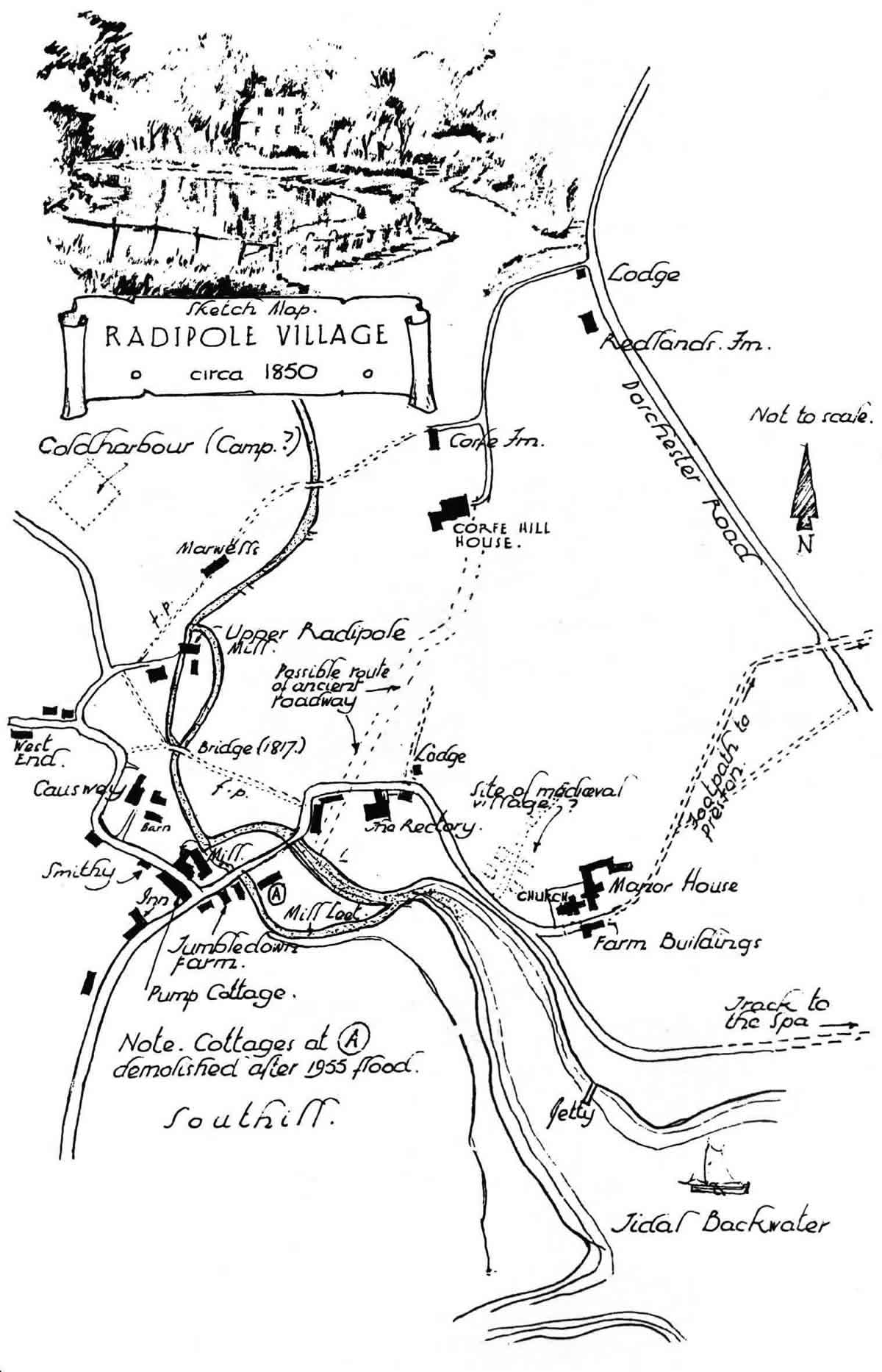 map of old Radipole