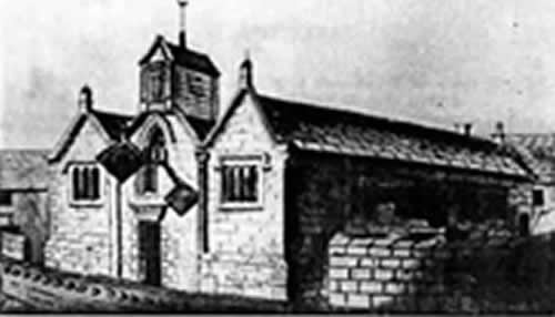 St Mary's Church in 1605 Weymouth